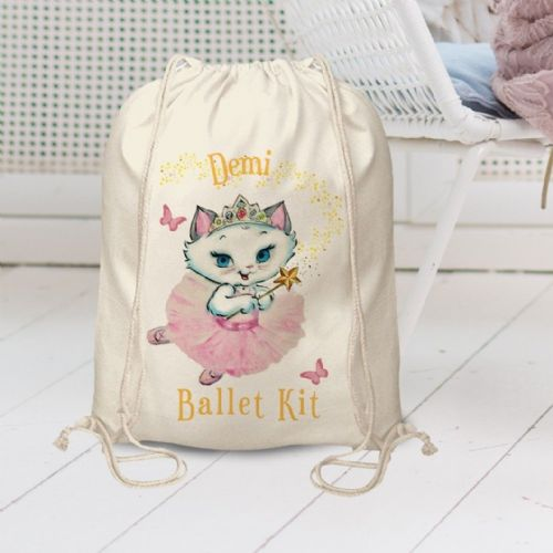 Personalised Nina Fairy Drawstring Bag